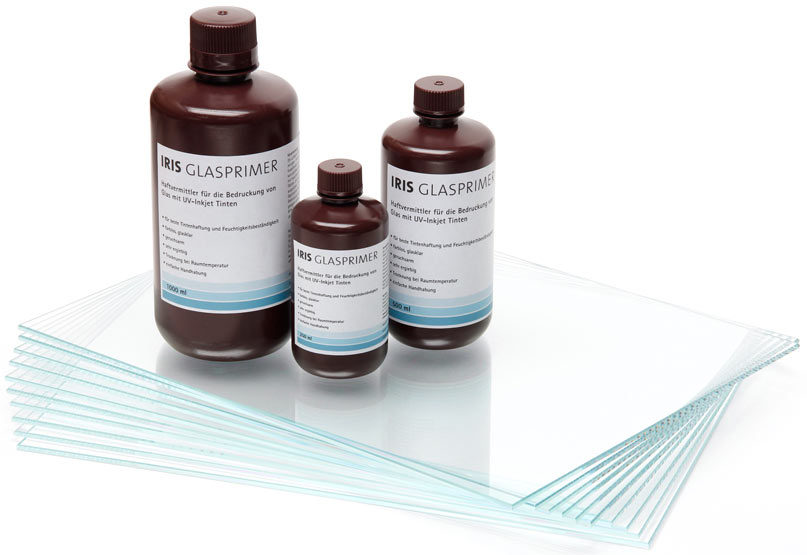 IRIS Glassprimer - forms an adhesion layer between flat glass and UV inkjet inks